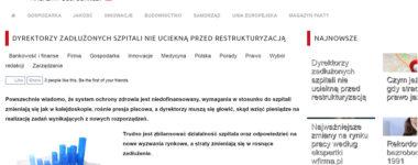 Dyrektorzy zadłużonych szpitali nie uciekną przed restrukturyzacją – Magazyn Fakty
